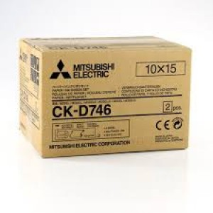 Mitsubishi Electric CK-D746 Carta + Ribbon per 800 Stampe 10x15