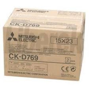 Mitsubishi Electric CK-D769 Carta + Ribbon per 360 Stampe 15x23