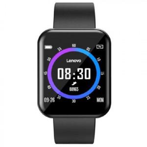 LENOVO Smartwatch E1 Pro Black ossigenazione sangue cinturino Nero