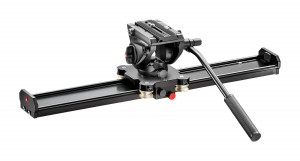 Manfrotto Kit slider 60cm e testa fluida 500