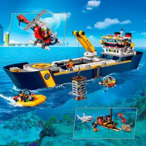 Giocattoli di costruzione LEGO 60266 City nave di ricerca marina