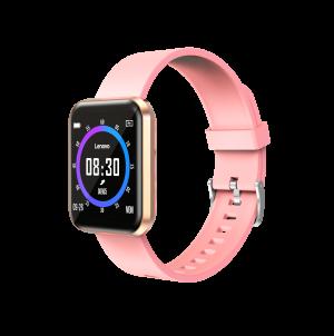 LENOVO Smartwatch E1 Pro Gold ossigenazione sangue cinturino Rosa
