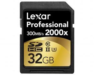 Scheda di Memoria SD Lexar Professional SDXC 32 GB 2000x (300MB/s)