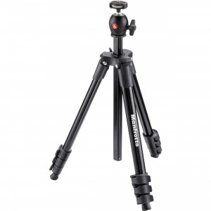Manfrotto treppiedi Compact Light nero con testa a sfera