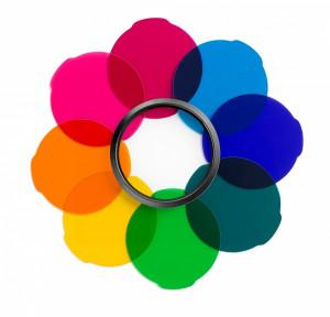 Manfrotto Set di filtri ''multicolor'' per luci LED LUMIMUSE