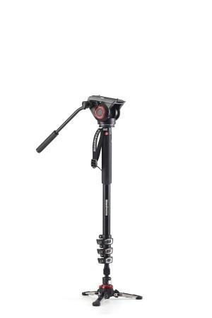 Manfrotto Monopiede Video XPRO+ con Testa Video e Base Fluida Alluminio Leva MVMXPRO500