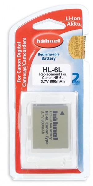 Hahnel HL 6L Batteria Litio-Ion per Canon con Capacità 800 mAh, 3.7V, 3.0 Wh, Sostitutiva della Batteria NB-6L