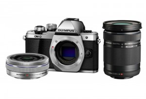 Fotocamera Mirrorless Olympus E-M10 II Twin Kit (14-42 EZ)(40-150) Silver