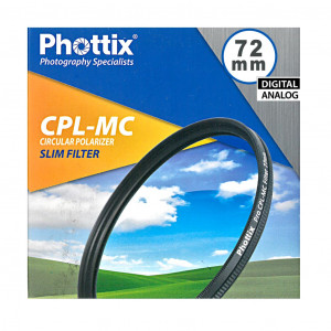 Filtro PL Phottix Slim CPL-MC Polarizzatore Circolare 72mm