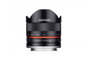 Samyang 8mm F2.8 Fish-eye CS II Black Canon M