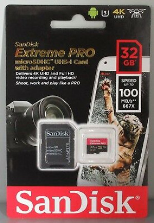 Scheda di Memoria Micro SD Secure Digital SanDisk SDHC UHS II 32GB (100MB/s)
