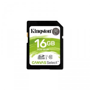 Scheda di Memoria SD Secure Digital Kingston SDHC16GB (80MB/s)