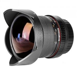 Obiettivo Samyang AE 8mm f/3.5 Fish-eye CS II w/hood (Nikon)