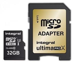 Scheda di Memoria Micro SD Integral SDHC 32GB (95MB/s)