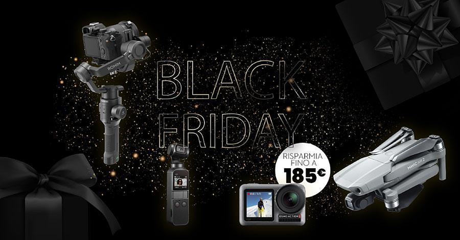 promozione DJI black friday droni sconto gimbal stabilizzatori action cam solodigitali roma