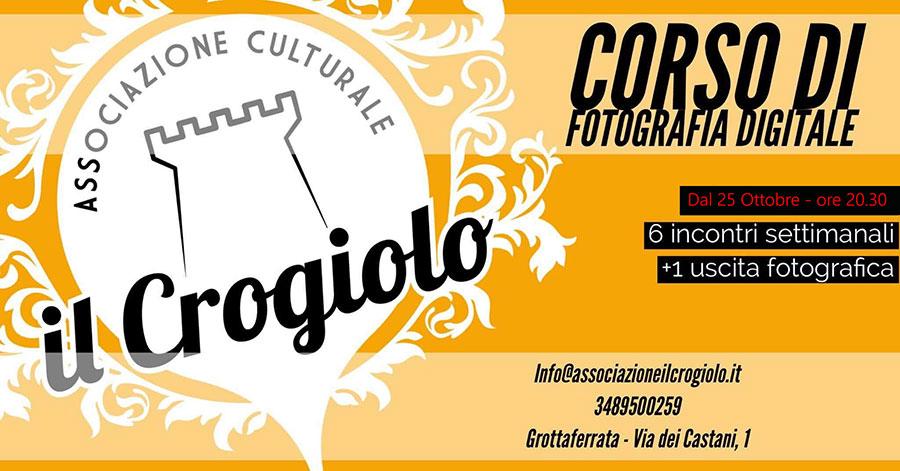 corso di fotografia solodigitali partner associazione culturale il crogiolo