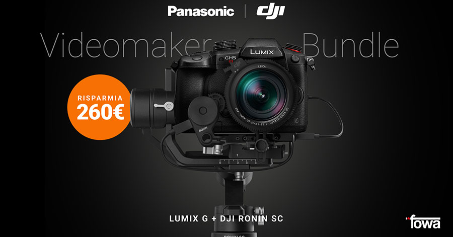 sconto panasonic promozione bundle pack fotocamere obiettivi gimbal DJI solodigitali roma