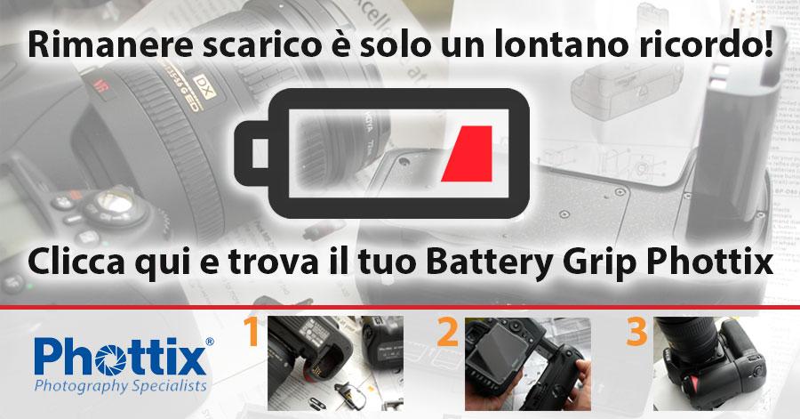 phottix batterie fotocamere, impugnature e batterygrip reflex