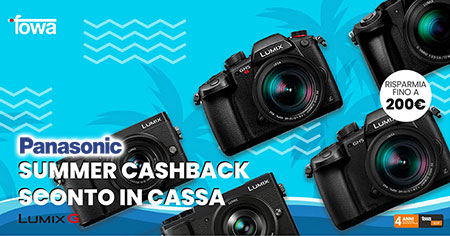 promozione panasonic serie S fotocamere mirrorless finanziamento lumix G solodigitali roma