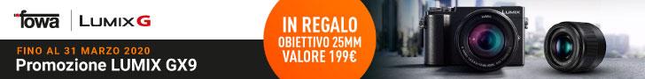 promozione panasonic GX9 fotocamere mirrorless sconto lumix GX9 25mm solodigtali roma