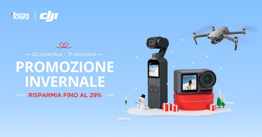 promozione droni DJI sconto gimbal DJI offerte action camera DJI solodigitali roma
