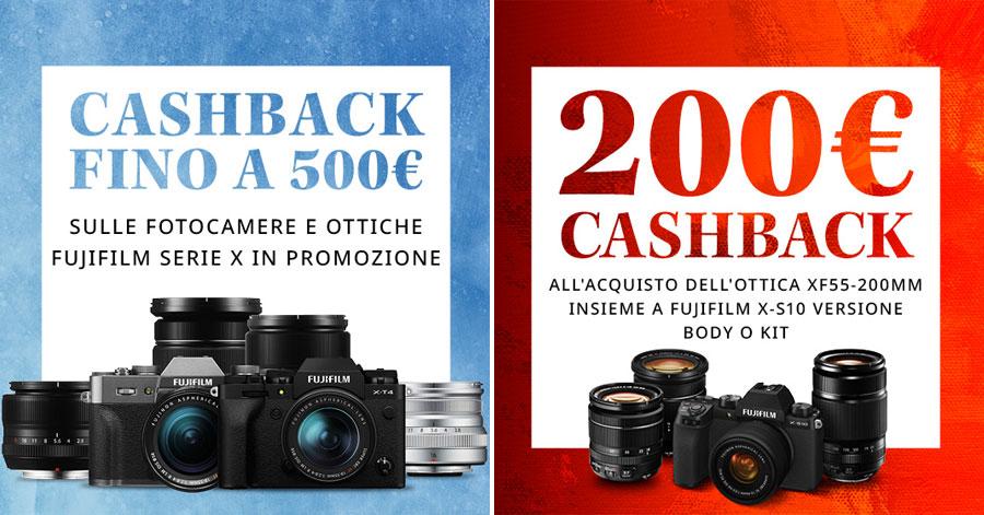 promozione Fujifilm cashback serie X obiettivi rimborso fotocamere solodigitali roma