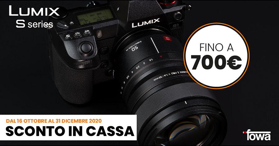 promozione Panasonic sconto Lumix S obiettivi fotocamere solodigitali roma