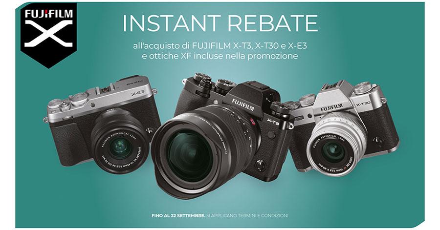 promozione fotocamere fujifilm X-T30 X-T3 X-E3 obiettivi offerta XF solodigitali roma