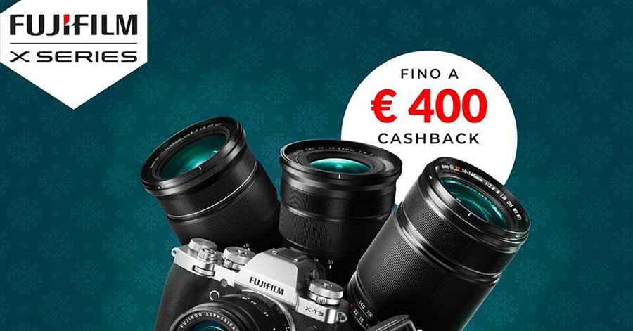 rimborso fujifilm promozione fotocamere mirrorless obiettivi winter cashback solodigitali roma